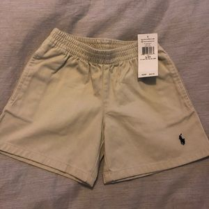 NWT Polo Ralph Lauren khaki electric waist shorts